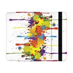 Crazy Multicolored Double Running Splashes Samsung Galaxy Tab Pro 8.4  Flip Case Front