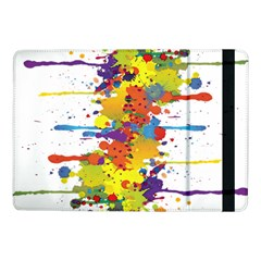 Crazy Multicolored Double Running Splashes Samsung Galaxy Tab Pro 10 1  Flip Case