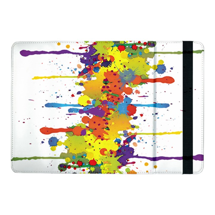 Crazy Multicolored Double Running Splashes Samsung Galaxy Tab Pro 10.1  Flip Case