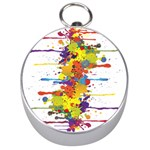 Crazy Multicolored Double Running Splashes Silver Compasses Front