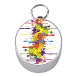 Crazy Multicolored Double Running Splashes Mini Silver Compasses Front