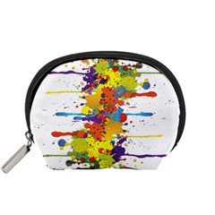 Crazy Multicolored Double Running Splashes Accessory Pouches (small)
