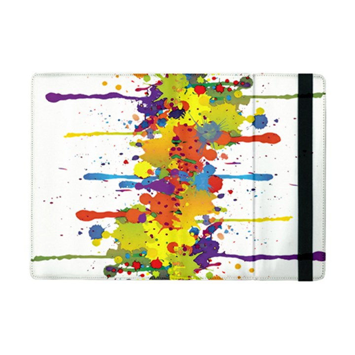 Crazy Multicolored Double Running Splashes iPad Mini 2 Flip Cases