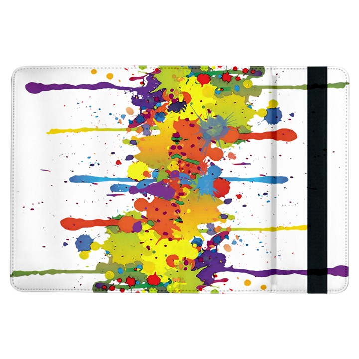 Crazy Multicolored Double Running Splashes iPad Air Flip
