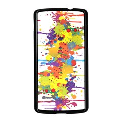 Crazy Multicolored Double Running Splashes Nexus 5 Case (Black)
