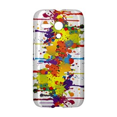 Crazy Multicolored Double Running Splashes Motorola Moto G