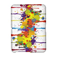 Crazy Multicolored Double Running Splashes Amazon Kindle Fire (2012) Hardshell Case