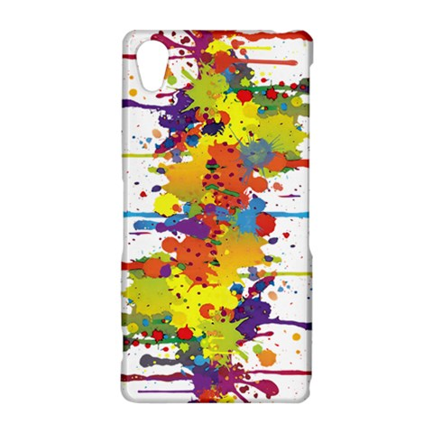 Crazy Multicolored Double Running Splashes Sony Xperia Z2