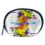 Crazy Multicolored Double Running Splashes Accessory Pouches (Medium)  Front