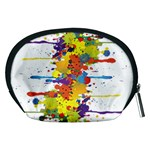 Crazy Multicolored Double Running Splashes Accessory Pouches (Medium)  Back