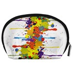 Crazy Multicolored Double Running Splashes Accessory Pouches (Large)  Back