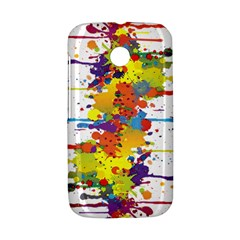 Crazy Multicolored Double Running Splashes Motorola Moto E