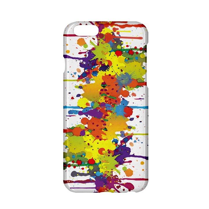 Crazy Multicolored Double Running Splashes Apple iPhone 6/6S Hardshell Case