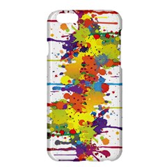 Crazy Multicolored Double Running Splashes Apple Iphone 6 Plus/6s Plus Hardshell Case