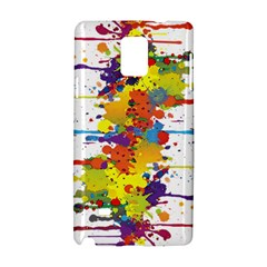 Crazy Multicolored Double Running Splashes Samsung Galaxy Note 4 Hardshell Case