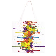 Crazy Multicolored Double Running Splashes Grocery Light Tote Bag