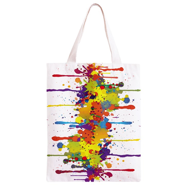 Crazy Multicolored Double Running Splashes Classic Light Tote Bag