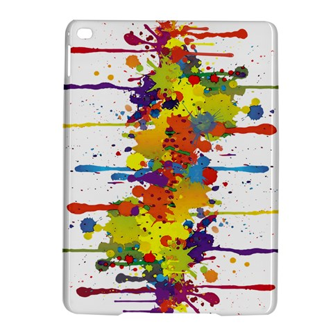 Crazy Multicolored Double Running Splashes iPad Air 2 Hardshell Cases