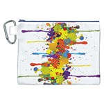 Crazy Multicolored Double Running Splashes Canvas Cosmetic Bag (XXL) Front