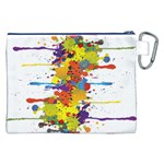 Crazy Multicolored Double Running Splashes Canvas Cosmetic Bag (XXL) Back