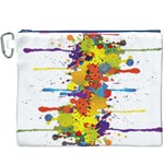 Crazy Multicolored Double Running Splashes Canvas Cosmetic Bag (XXXL) Front