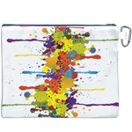 Crazy Multicolored Double Running Splashes Canvas Cosmetic Bag (XXXL) Back