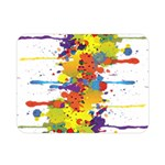 Crazy Multicolored Double Running Splashes Double Sided Flano Blanket (Mini)  35 x27 Blanket Back