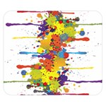 Crazy Multicolored Double Running Splashes Double Sided Flano Blanket (Small)  50 x40 Blanket Back