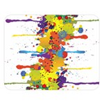 Crazy Multicolored Double Running Splashes Double Sided Flano Blanket (Large)  80 x60 Blanket Front