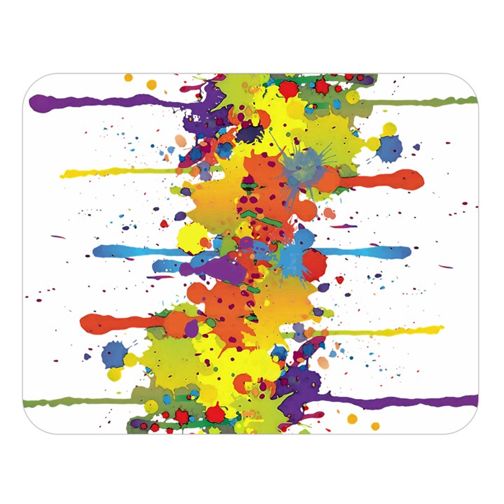 Crazy Multicolored Double Running Splashes Double Sided Flano Blanket (Large)