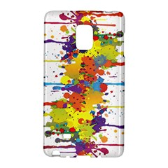 Crazy Multicolored Double Running Splashes Galaxy Note Edge