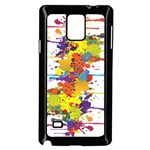 Crazy Multicolored Double Running Splashes Samsung Galaxy Note 4 Case (Black) Front