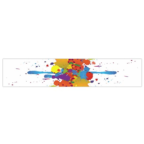 Crazy Multicolored Double Running Splashes Flano Scarf (Small)