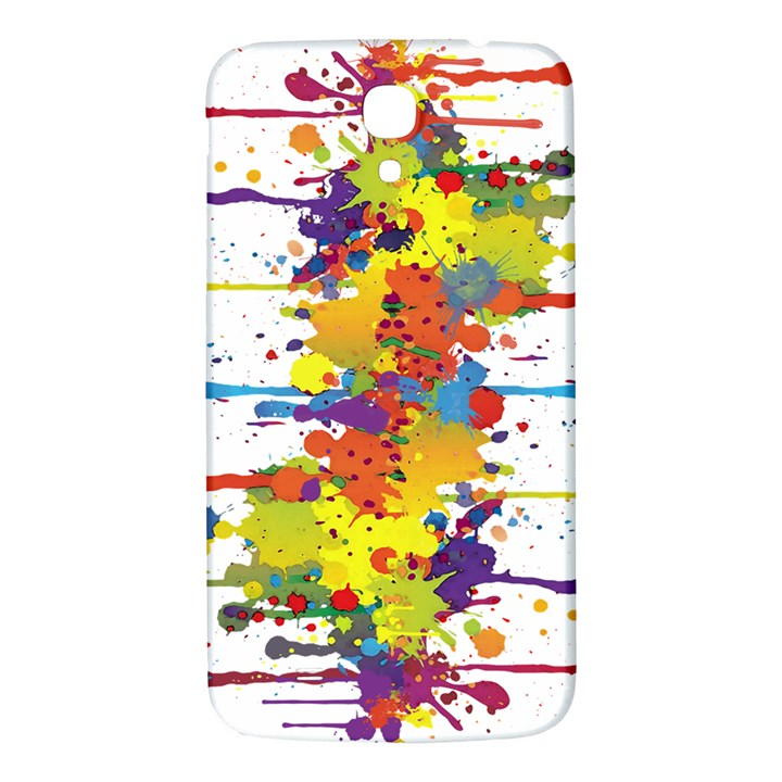 Crazy Multicolored Double Running Splashes Samsung Galaxy Mega I9200 Hardshell Back Case