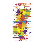 Crazy Multicolored Double Running Splashes Samsung Galaxy Alpha Hardshell Back Case Front