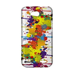Crazy Multicolored Double Running Splashes LG L90 D410