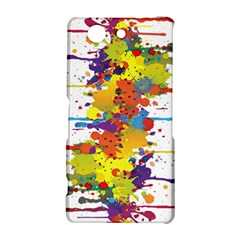 Crazy Multicolored Double Running Splashes Sony Xperia Z3 Compact