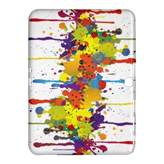 Crazy Multicolored Double Running Splashes Samsung Galaxy Tab 4 (10 1 ) Hardshell Case