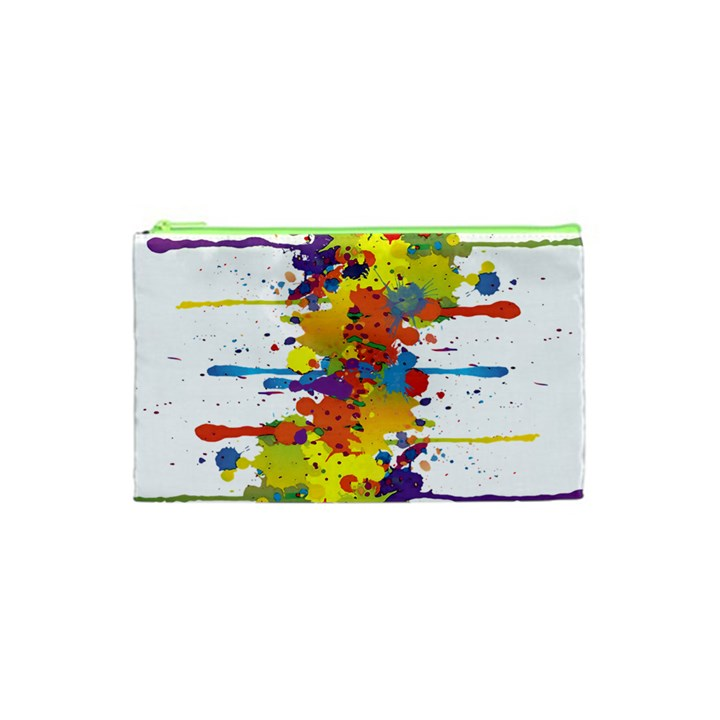Crazy Multicolored Double Running Splashes Cosmetic Bag (XS)