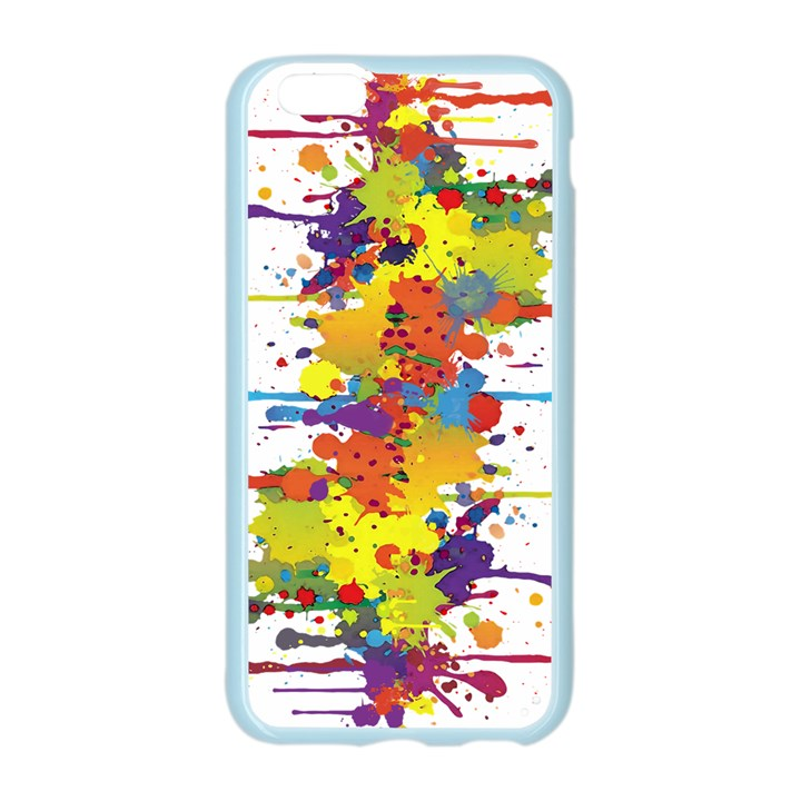 Crazy Multicolored Double Running Splashes Apple Seamless iPhone 6/6S Case (Color)