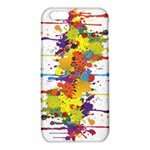 Crazy Multicolored Double Running Splashes iPhone 6/6S TPU Case Front