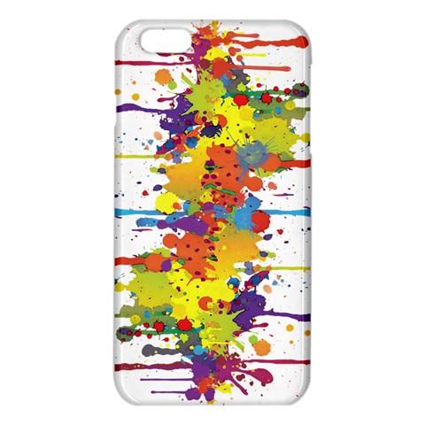 Crazy Multicolored Double Running Splashes iPhone 6 Plus/6S Plus TPU Case