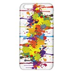 Crazy Multicolored Double Running Splashes iPhone 6 Plus/6S Plus TPU Case Front
