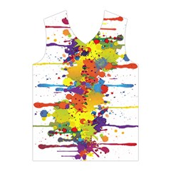 Crazy Multicolored Double Running Splashes Men s Basketball Tank Top
