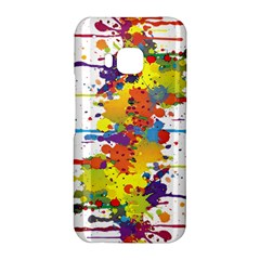 Crazy Multicolored Double Running Splashes HTC One M9 Hardshell Case