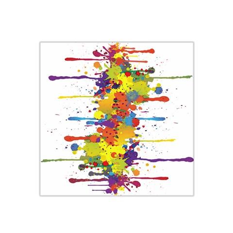 Crazy Multicolored Double Running Splashes Satin Bandana Scarf