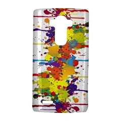 Crazy Multicolored Double Running Splashes Lg G4 Hardshell Case