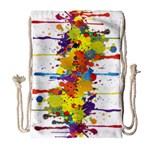 Crazy Multicolored Double Running Splashes Drawstring Bag (Large) Front