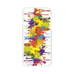 Crazy Multicolored Double Running Splashes Apple Seamless iPhone 6/6S Case (Transparent) Front