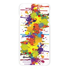 Crazy Multicolored Double Running Splashes Apple Seamless iPhone 6 Plus/6S Plus Case (Transparent)